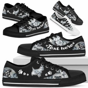 LTS-U-Dog-PaisleyNa013-Westie-24@undefined-Westie Dog Lovers Paisley Tennis Shoes Gym Low Top Shoes Gift Men Women. Dog Mom Dog Dad Custom Shoes. West Highland White Terrier