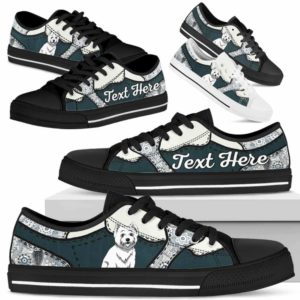 LTS-U-Dog-PaisleyNa013-Westie-62@undefined-Westie Dog Lovers Paisley Tennis Shoes Gym Low Top Shoes Gift Men Women. Dog Mom Dog Dad Custom Shoes. West Highland White Terrier