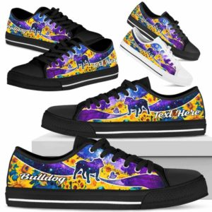 LTS-U-Dog-SunflowerGalaxyNa013-Bulldog-6@undefined-Bulldog Dog Lovers Sunflower Galaxy Tennis Shoes Gym Low Top Shoes Gift Men Women. Dog Mom Dog Dad Custom Shoes.