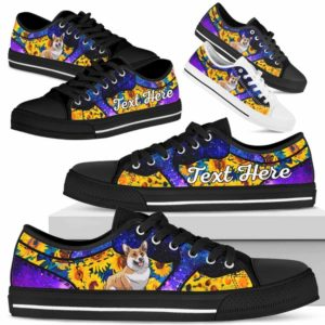 LTS-U-Dog-SunflowerGalaxyNa013-Corgi-18@undefined-Corgi Dog Lovers Sunflower Galaxy Tennis Shoes Gym Low Top Shoes Gift Men Women. Dog Mom Dog Dad Custom Shoes.