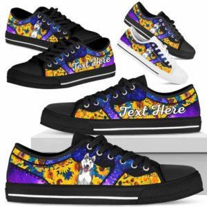 LTS-U-Dog-SunflowerGalaxyNa013-Husky-36@undefined-Husky Dog Lovers Sunflower Galaxy Tennis Shoes Gym Low Top Shoes Gift Men Women. Dog Mom Dog Dad Custom Shoes.