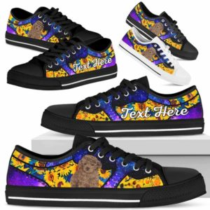 LTS-U-Dog-SunflowerGalaxyNa013-Poodle-51@undefined-Poodle Dog Lovers Sunflower Galaxy Tennis Shoes Gym Low Top Shoes Gift Men Women. Dog Mom Dog Dad Custom Shoes.