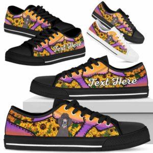 LTS-U-Dog-SunflowerNa023-Poodle-48@undefined-Poodle Dog Lovers Sunflower Tennis Shoes Gym Low Top Shoes Gift Men Women. Dog Mom Dog Dad Custom Shoes.