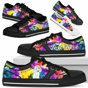 LTS-U-Dog-WaterColorNa013-Poodle-50@undefined-Poodle Dog Lovers Watercolor Tennis Shoes Gym Low Top Shoes Gift Men Women. Dog Mom Dog Dad Custom Shoes.