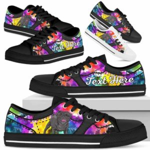 LTS-U-Dog-WaterColorNa013-Pug-54@undefined-Pug Dog Lovers Watercolor Tennis Shoes Gym Low Top Shoes Gift Men Women. Dog Mom Dog Dad Custom Shoes.