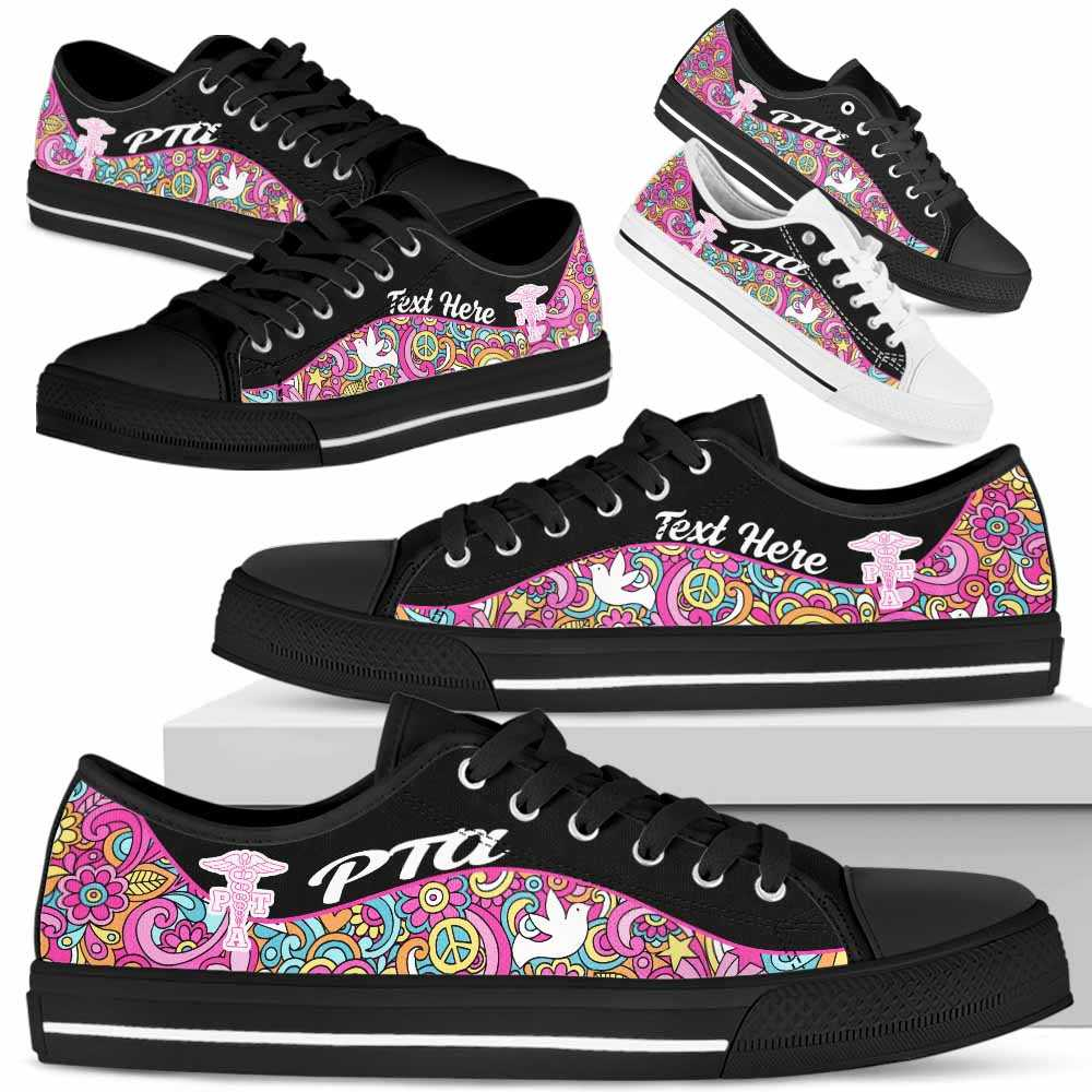Pta Physical Therapy Assistant Hippie Tennis Shoes Gym Low ...