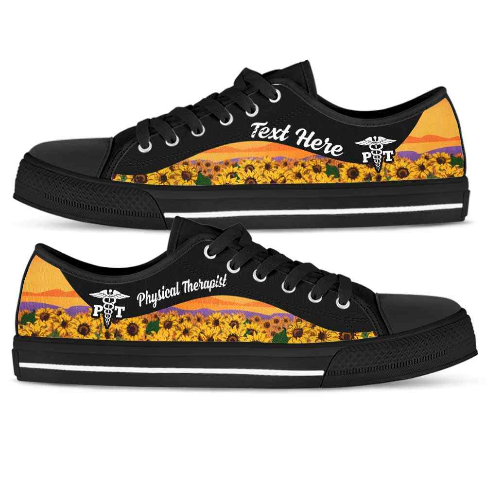Physical Therapist Sunflower Field Tennis Shoes Gym Low ...