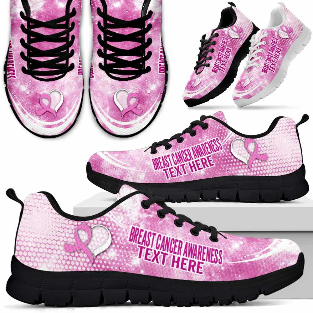 SS-U-Awareness-Galaxy03NaSportline10a-BreCan-9@undefined-Breast Cancer Awareness Ribbon Galaxy Sneakers Gym Running Shoes. Survivor Fighter Custom Gift.