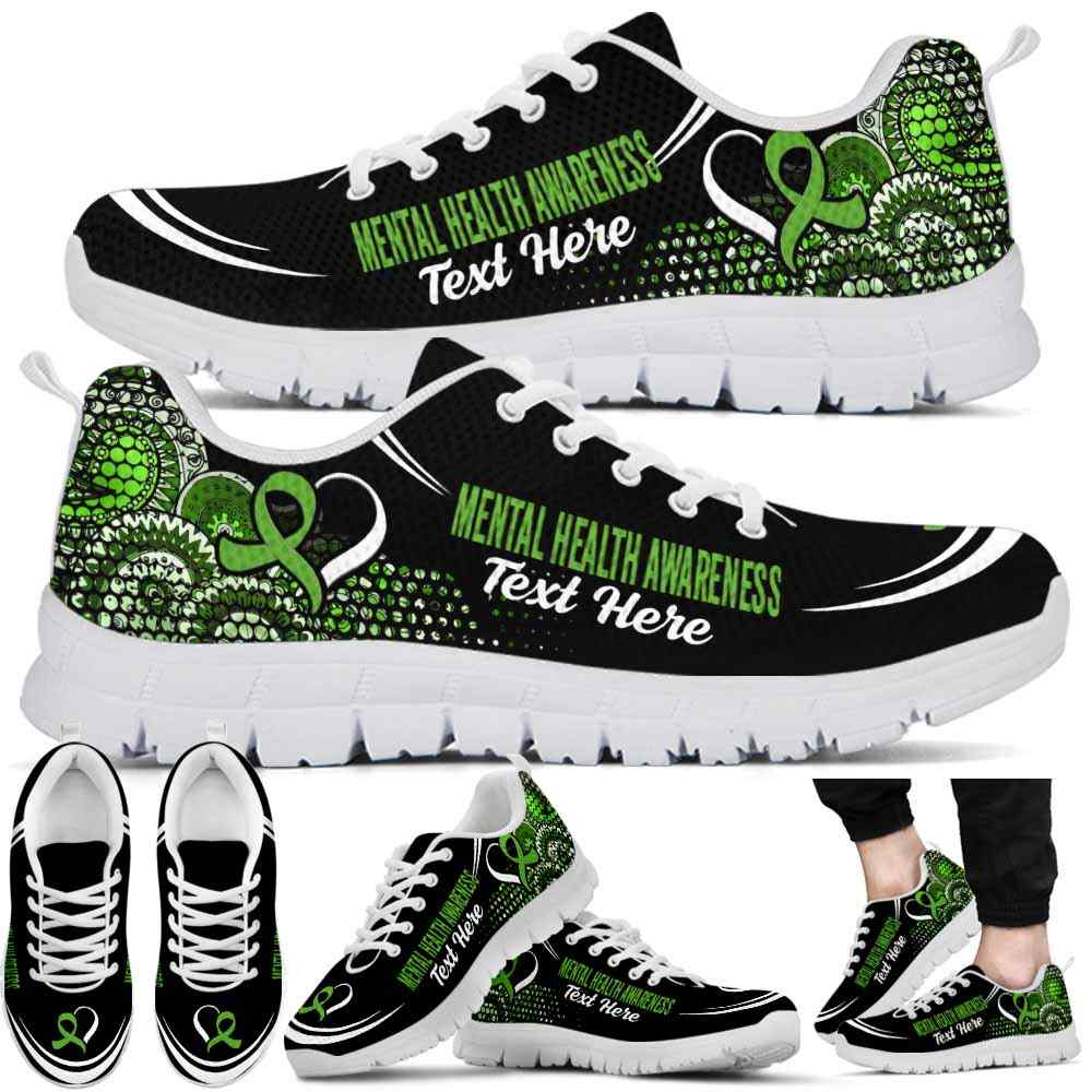 SS-U-Awareness-Mandala02NaSportline10a-MenHea-27@undefined-Mental Health Awareness Ribbon Mandala Sneakers Gym Running Shoes. Survivor Fighter Custom Gift.