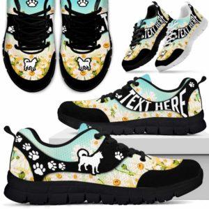 SS-U-Dog-DaisyNa02-Husky-16@undefined-Daisy Flower Husky Dog Lovers Sneakers Gym Running Shoes Gift Women Men. Dog Mom Dog Dad Custom Shoes.