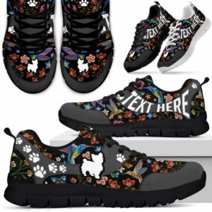 SS-U-Dog-EmbroideryNa01-Yorkie-25@undefined-Embroidery Flower Yorkie Dog Lovers Sneakers Gym Running Shoes Gift Women Men. Dog Mom Dog Dad Custom Shoes. Yorkshire Terrier