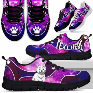 SS-U-Dog-GalaxyNa01-Westie-62@undefined-Galaxy Westie Dog Lovers Sneakers Gym Running Shoes Gift Women Men. Dog Mom Dog Dad Custom Shoes. West Highland White Terrier