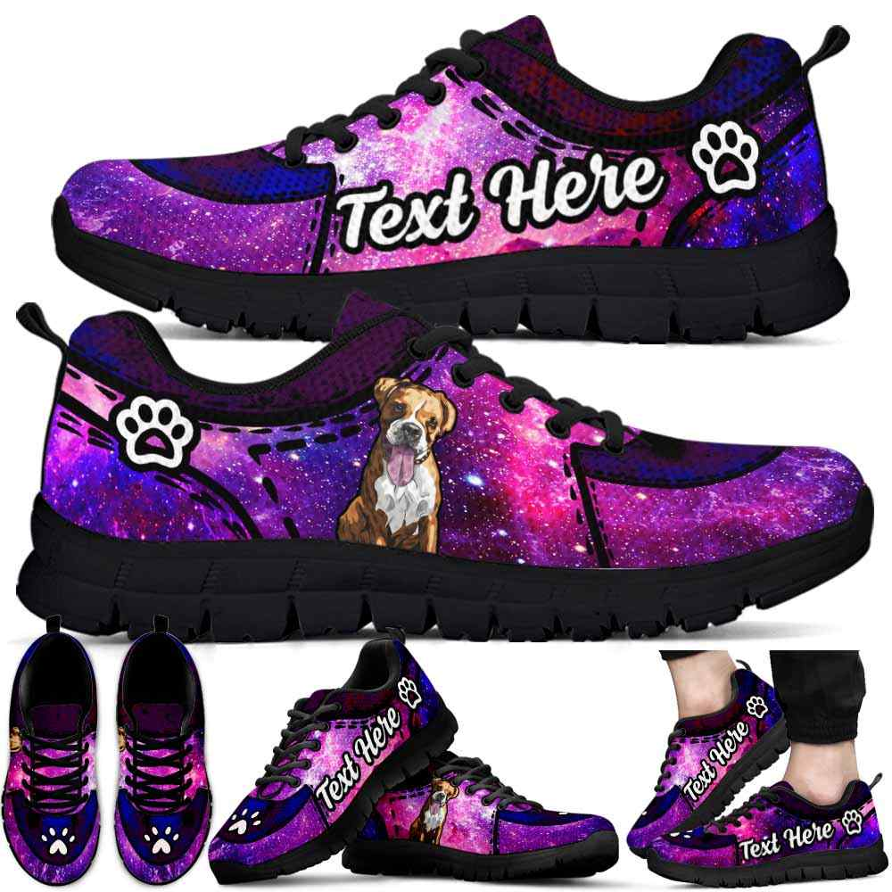 SS-U-Dog-GalaxyNa012-Boxer-9@undefined-Boxer Dog Lovers Galaxy Sneakers Gym Running Shoes Gift Women Men. Dog Mom Dog Dad Custom Shoes.