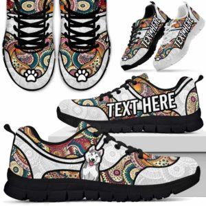 SS-U-Dog-MandalaNa02-Husky-36@undefined-Colorful Mandala Husky Dog Lovers Sneakers Gym Running Shoes Gift Women Men. Dog Mom Dog Dad Custom Shoes.