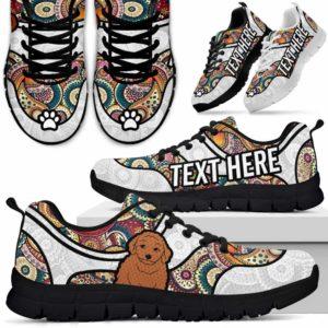 SS-U-Dog-MandalaNa02-Poodle-45@undefined-Colorful Mandala Poodle Dog Lovers Sneakers Gym Running Shoes Gift Women Men. Dog Mom Dog Dad Custom Shoes.