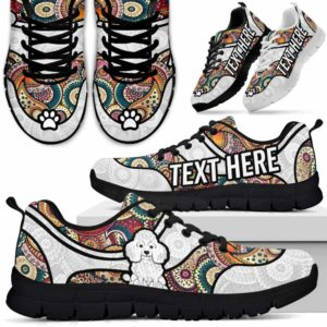 SS-U-Dog-MandalaNa02-Poodle-47@undefined-Colorful Mandala Poodle Dog Lovers Sneakers Gym Running Shoes Gift Women Men. Dog Mom Dog Dad Custom Shoes.