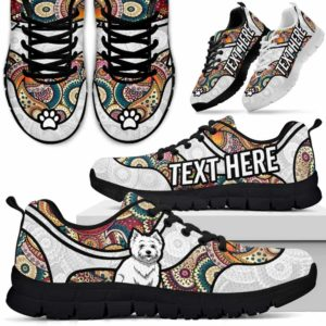 SS-U-Dog-MandalaNa02-Westie-62@undefined-Colorful Mandala Westie Dog Lovers Sneakers Gym Running Shoes Gift Women Men. Dog Mom Dog Dad Custom Shoes. West Highland White Terrier