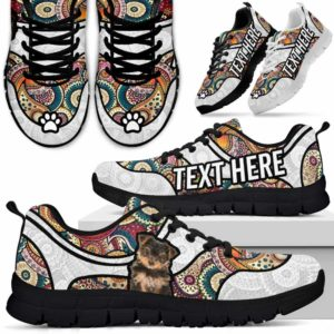 SS-U-Dog-MandalaNa02-Yorkie-68@undefined-Colorful Mandala Yorkie Dog Lovers Sneakers Gym Running Shoes Gift Women Men. Dog Mom Dog Dad Custom Shoes. Yorkshire Terrier