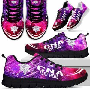 SS-U-Nurse-Galaxy01NaSportline10a-CNA-0@undefined-Cna Nursing Assistant Galaxy Sneakers Gym Running Shoes Gift Women Men. Custom Shoes.