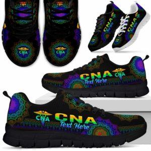 SS-U-Nurse-Mandala10Gradient01Na01-CNA-0@undefined-Cna Nursing Assistant Mandala Gradient Sneakers Gym Running Shoes Gift Women Men. Custom Shoes.