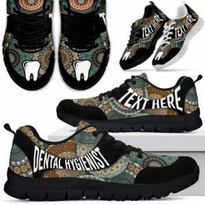 SS-U-Nurse-MandalaNa03-DenHyg-2@undefined-Colorful Mandala Dental Hygienist Sneakers Gym Running Shoes Gift Women Men. Custom Shoes.