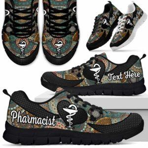 SS-U-Nurse-MandalaNa031-Phacist-17@undefined-Pharmacist Mandala Sneakers Gym Running Shoes Gift Women Men. Custom Shoes.