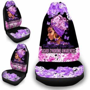 CSC-W-Awa-FlwrBlgr10010-Aosy-8 @ Faith Hope Fight Love Flower Black Girl Aicardi Syndrome-Aicardi Syndrome Awareness Ribbon Flower Car Seat Cover. Faith Hope Fight Love Car Accessory Custom Gift.