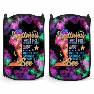 LH-U-Age-210-Sag-1@ Age -2 Sagittarius-Sagittarius Woman, Sagittarius Girl, Sagittarius Queen Laundry Hamper. Custom Personalized Birthday Gift For Women.