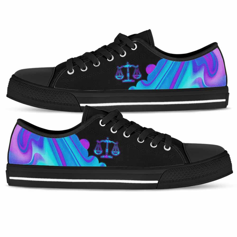 LTS-U-Job-AbPurpBlue1002-Atn-3 @ Abstract Purple Blue Attorney-Attorney Tennis Gym Shoes Low Top Shoes Sneakers For Women And Men. Blue Purple Custom Personalized Gift.