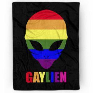 PB-U-Lgbt-Gayl-Lgbt-0 @ Lgbt Gaylien-Lgbt Pride, Gay Pride, Equality Gaylien Rainbow Premium Fleece Blanket. Custom Personalized Blanket, Home Decoration Gift.
