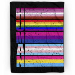 PB-U-Lgbt-HumaPridUnit-Lgbt-0 @ Lgbt Human Pride Unity-Human Lgbt Pride, Gay Pride, Equality Rainbow Premium Fleece Blanket. Custom Personalized Blanket, Home Decoration Gift.