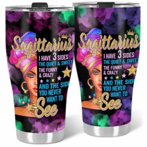 TB-U-Age-210-Sag-1 @ Age -2 Sagittarius-Sagittarius Woman, Sagittarius Girl, Sagittarius Queen Stainless Steel Vacuum Insulation Tumbler. Custom Personalized Birthday Gift For Women.