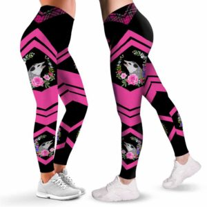 LEGG-W-Ani-WateOposFlwr-Opos-0 @ It's called trash can not trash can't-Opossum Leggings For Women. It'S Called Trash. Opossum Pattern Printed Leggings. Women Leggings. Yoga Workout Custom Leggings Gift.