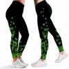 LEGG-W-Ctry-Irish-Sham-0 @ Shamrock Patricks Day Clover Leaves Leprechauns-Irish Leggings For Women. Proud Irish Pattern Printed Leggings. Shamrock Women Leggings. Yoga Workout Leggings. Custom Leggings.