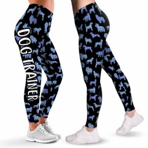 LEGG-W-Dog-DogsSilhCuteFral-Dog-1 @ Dogs Cute Floral-Dog Lovers Cute Floral Leggings For Women. Workout Yoga Women Leggings. Dog Mom Custom Gift.
