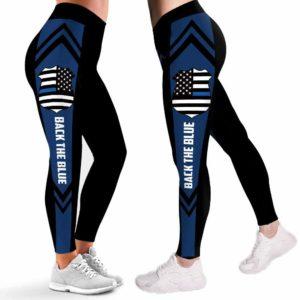 LEGG-W-Job-Plof-LineBackTheBlue-0 @ Back the Blue Line Down-Police Leggings For Women. Proud Police Pattern Printed Leggings. Back The Blue Women Leggings. Yoga Workout Leggings. Custom Leggings.