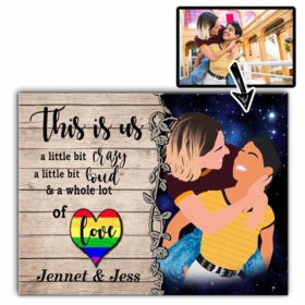 Customized Faceless Portrait. Personalized Digital Portrait Without Faces. Lgbt Gay Lesbian Couple Anniversary Gift Idea. Wall Art Canvas.