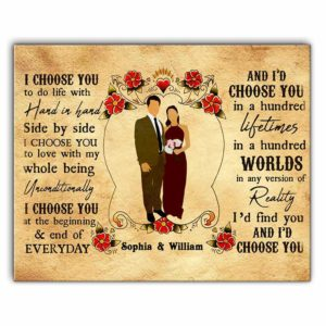 CAVA-U-Fami-MexiIChooYou-F9-0 @ Family Mexican I Choose You-Custom Couple Wall Art Print. Mexican Personalized Portrait Painting. Family Gift For Wedding, Anniversary, Valentine'S Day. I Choose You.