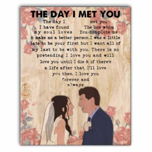 CAVA-U-Fami-TheDayIMetYou-F9-0 @ Family The Day I Met You-Custom Couple Wall Art Print. Personalized Portrait Painting. Family Gift For Wedding, Anniversary, Valentine'S Day. The Day I Met You.