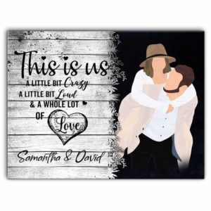 CAVA-U-Fami-ThisIsUsCoup-F9-0 @ Family This Is Us Couple-Custom Couple Wall Art Print. Personalized Minimalist Digital Art Faceless Family Portrait Canvas. Anniversary, Valentine Gift. This Is Us.