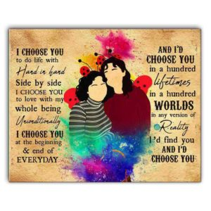 CAVA-U-Lgbt-MexiIChooYouWate-Lgbt-0 @ Lgbt Mexican I Choose You Watercolor-Custom Lgbt Gay Couple Wall Art Print. Mexican Personalized Portrait. Family Gift For Wedding, Anniversary, Valentine'S Day. I Choose You.