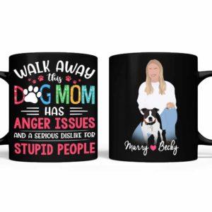 MUG-U-Dog-DogMomAnge-Dog-0 @ Dog Mom Anger-Personalized Dog Portrait Coffee Mug. Custom Dog Mug. Minimalist Digital Art Faceless Portrait. Gift For Dog Owners. Funny Dog Mom Mug.