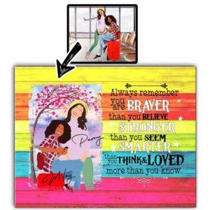 CAVA-U-Fami-BravThanYouBeli-F9-0 @ Family Braver Than You Believe-Personalized Faceless Portrait From Photo. Custom Digital Art Faceless Portrait. Gift For Bestie, Sister, Friend, Family. Wall Art Canvas.