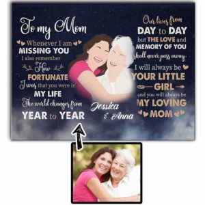 CAVA-U-Fami-GlxyMom-F9-0 @ Family Galaxy Mom-Personalized Faceless Family Portrait From Photo. Custom Faceless Digital Artwork. To My Mom Gift For Mother From Daughter. Wall Art Canvas.