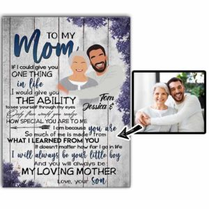 CAVA-U-Fami-LittMomBoy-F9-0 @ Family Little Mom Boy-Personalized Faceless Family Portrait From Photo. Customizable Digital Illustration. Mother Day Gift For Mom From Son. Wall Art Canvas.
