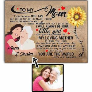 CAVA-U-Fami-SunsMom-F9-0 @ Family Sunshine Mom-Personalized Faceless Family Portrait From Photo. Custom Faceless Digital Drawing. Mother Day Gift For Mom From Daughter. Wall Art Canvas.