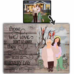 CAVA-U-Fami-WalkBesiUs-F9-0 @ Family Walk Beside Us-Customized Faceless Portrait. Personalized Digital Faceless Family Portrait. Family Member Loss Remembrance Gift. Wall Art Print Canvas.