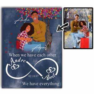 CAVA-U-Fami-WhenWeHaveEachOthe-F9-0 @ Family When We Have Each Other-Custom Faceless Couple Portrait. Personalized Digital Art Faceless Family Portrait. Husband And Wife Anniversary Gift. Wall Art Canvas.