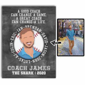 CAVA-U-Hobb-BaseTeamWord-Bball-0 @ Baseball Team Word-Personalized Faceless Coach Portrait And Player Names. Custom Digital Faceless Portrait. Gift For Baseball Coach. Wall Art Print Canvas.