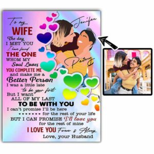 CAVA-U-Lgbt-ToMySoulWife-Lgbt-0 @ Lgbt To My Wife The Day I Met You Found My Soul Loves-Custom Faceless Couple Portrait. Personalized Digital Faceless Family Portrait. Lgbt Gay Lesbian Couple Anniversary Gift. Art Print Canvas.